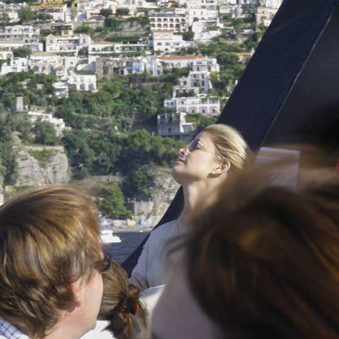 Hair in the wind, off Positano