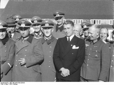 von Braun, winner of NASA's Distinguished Service Medal, and his Nazi pals